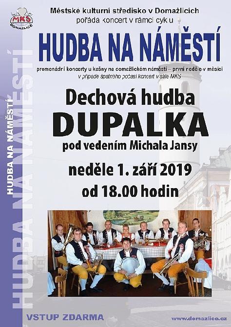 promenádní koncert dechové kapely dupalka