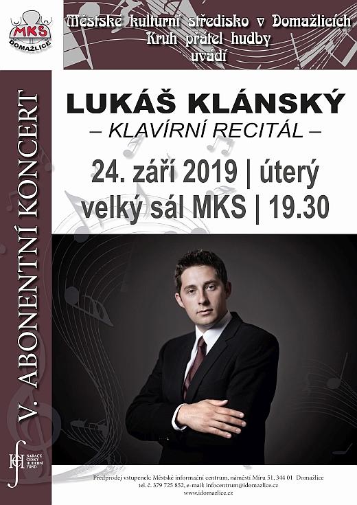 5.abonentní koncert - Lukáš Klánský
