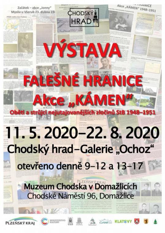 Falešné hranice - akce Kámen výstava vmuzeu Chodska do22. srpna 2020