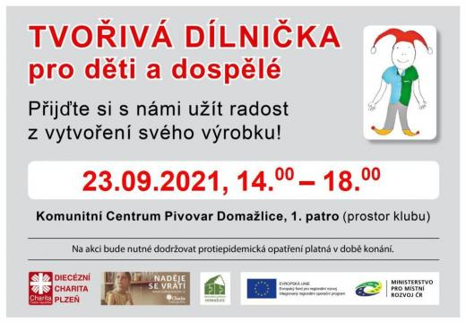 Dílnička sCharitou 23.9. 2021