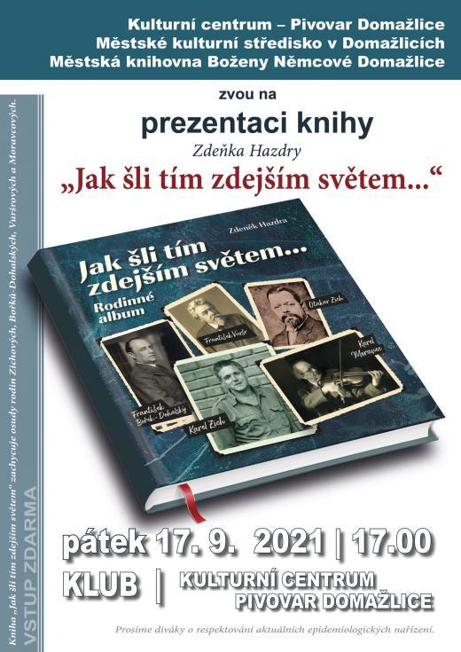 Prezentace knihy Zdeňka Hazdry 17.9. 2021